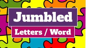 Jumbled Letters or Words